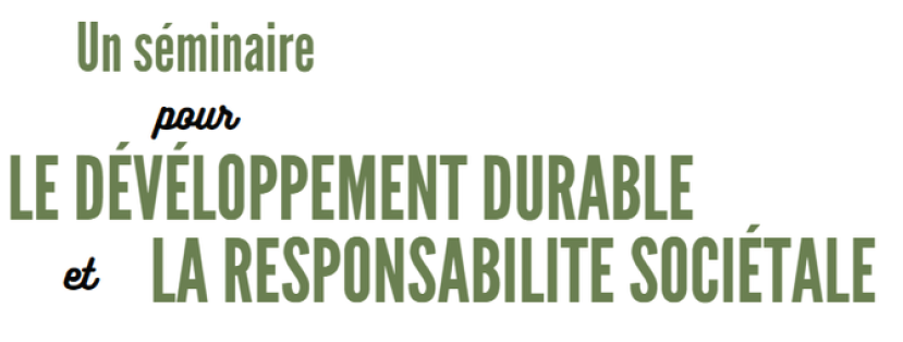 First sustainable development and social responsability seminar by Agroparistech