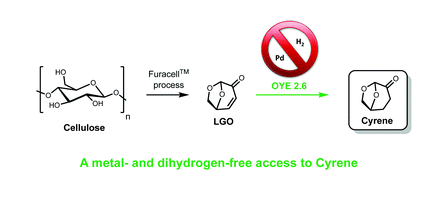 Enzymatic reduction of levoglucosenone by an alkene reductase (OYE 2.6): a sustainable metal- and dihydrogen-free access to the bio-based solvent Cyrene®